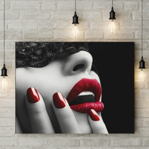 Tablou canvas Red Lips
