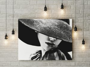 Tablou canvas B&W Girl