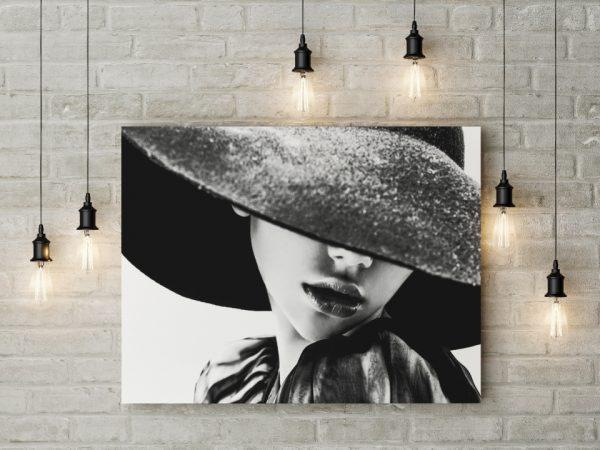 Tablou canvas B&W Girl
