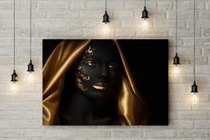 Tablou canvas Golden Scarf Girl