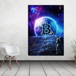 Tablou canvas Bitcoin World