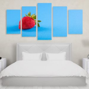 Tablou Multicanvas 5 Piese Blue Strawberry