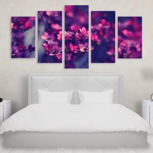 Tablou Multicanvas 5 Piese Flowers