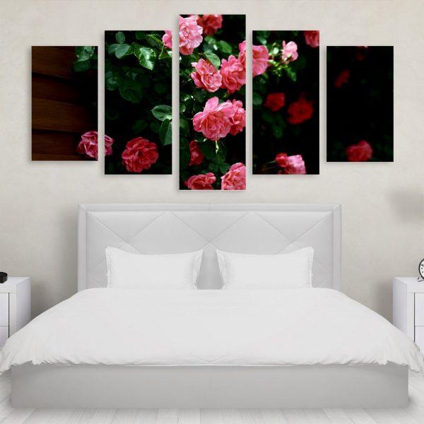 Tablou Multicanvas 5 Piese Roses