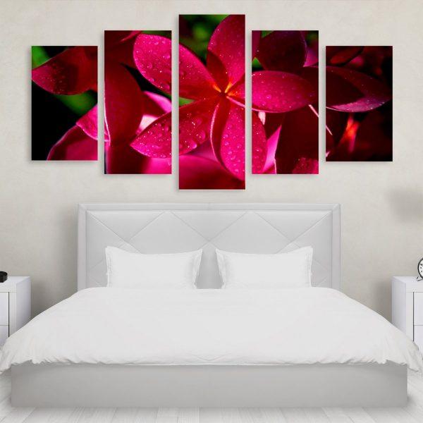 Tablou Multicanvas 5 Pink Flowers