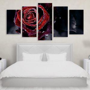 Tablou Multicanvas 5 Piese Water Rose