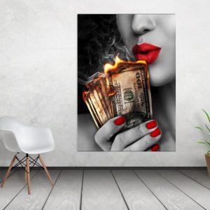 Tablou canvas Money To Burn