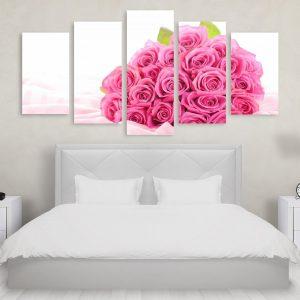 Tablou Multicanvas 5 Piese Pink Roses