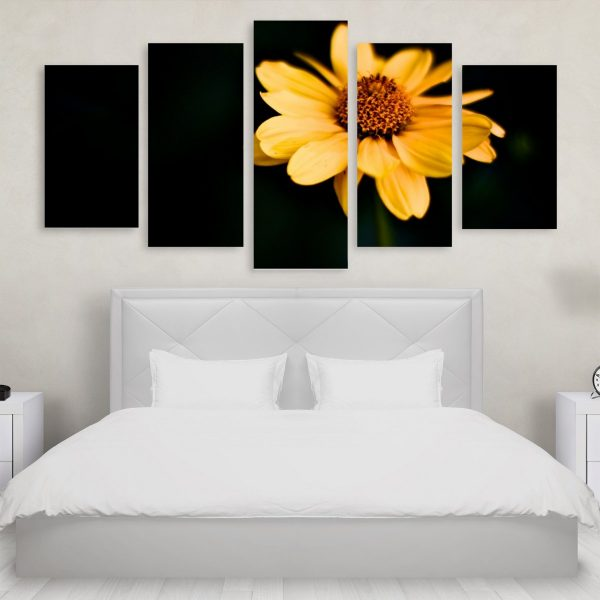 Tablou Multicanvas 5 Piese Yellow Flower