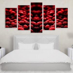 Tablou Multicanvas 5 Piese Blackberries