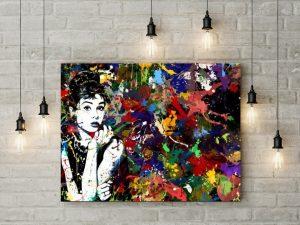 Tablou canvas Audrey Hepburn