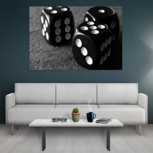 Tablou canvas Black Dice