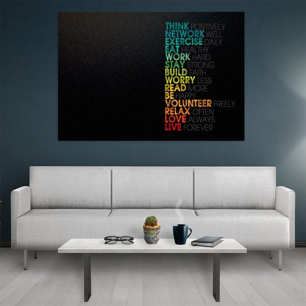 Tablou canvas Motivational Think