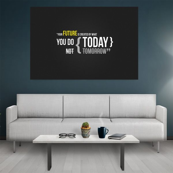 Tablou canvas Motivational Your Future Today
