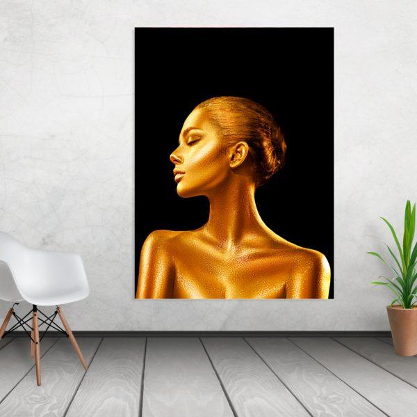 Tablou canvas Gold Girl