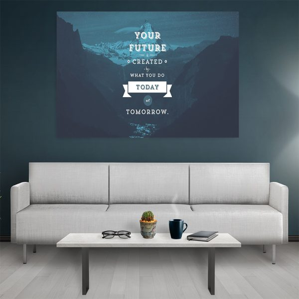 Tablou canvas Motivational Your Future Created