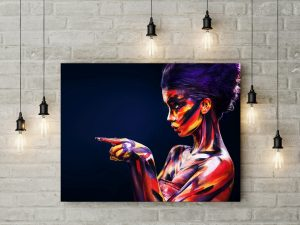 Tablou canvas Blue Girl