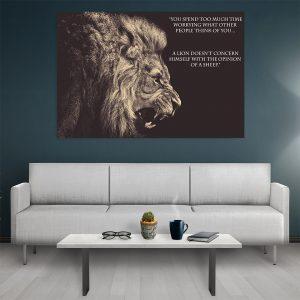 Tablou canvas Motivational Lion