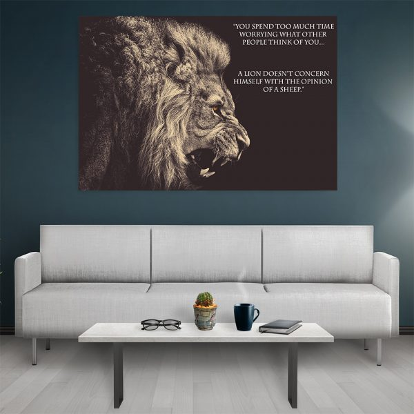 Tablou canvas Motivational Lion