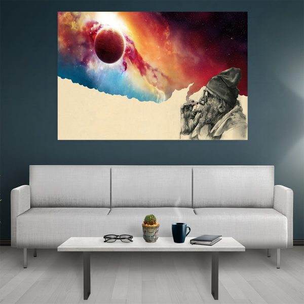 Tablou canvas Red Smoke Clouds