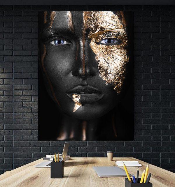 Tablou Canvas Golden Girl Blue Eyes
