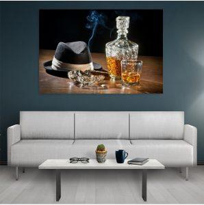 Tablouri Pentru Bucatarie Smoking Whisky
