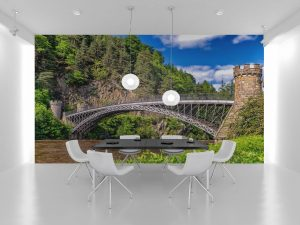 Fototapet Mountain Bridge - Tapet Modern