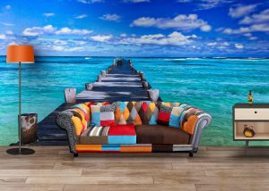 Fototapet Beach Pontoon - Tapet Vinil