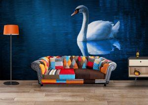 Fototapet Swan Lake - Fototapet 3D Dormitor