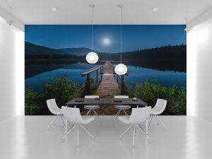Fototapet Lake Moon