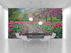 Fototapet Tulips - Fototapet 3D Floral