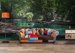 Fototapet Forest River - Fototapet 3D Peisaje