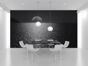 Fototapet Black Moon - Tapet Living 3D