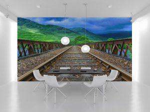 Fototapet Railway Bridge - Fototapet Ieftin