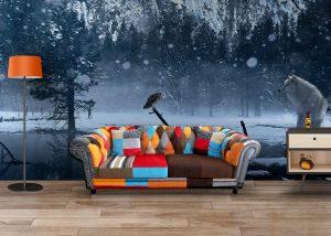 Fototapet Winter - Fototapet vintage