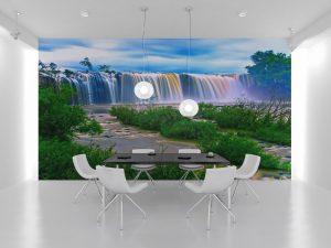 Fototapet Waterfall - Tapet autoadeziv