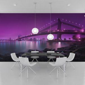 Fototapet Brooklyn Bridge - Amenajari dormitoare cu tapet