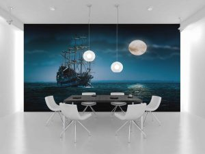 Fototapet Moon Ship -Tapet Ieftin