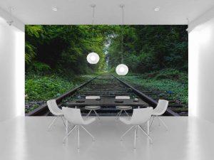 Fototapet Forest Rail -Tapet Modern