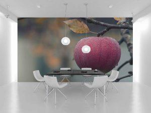 Fototapet Red Apple -Tapet 3D Bucatarie