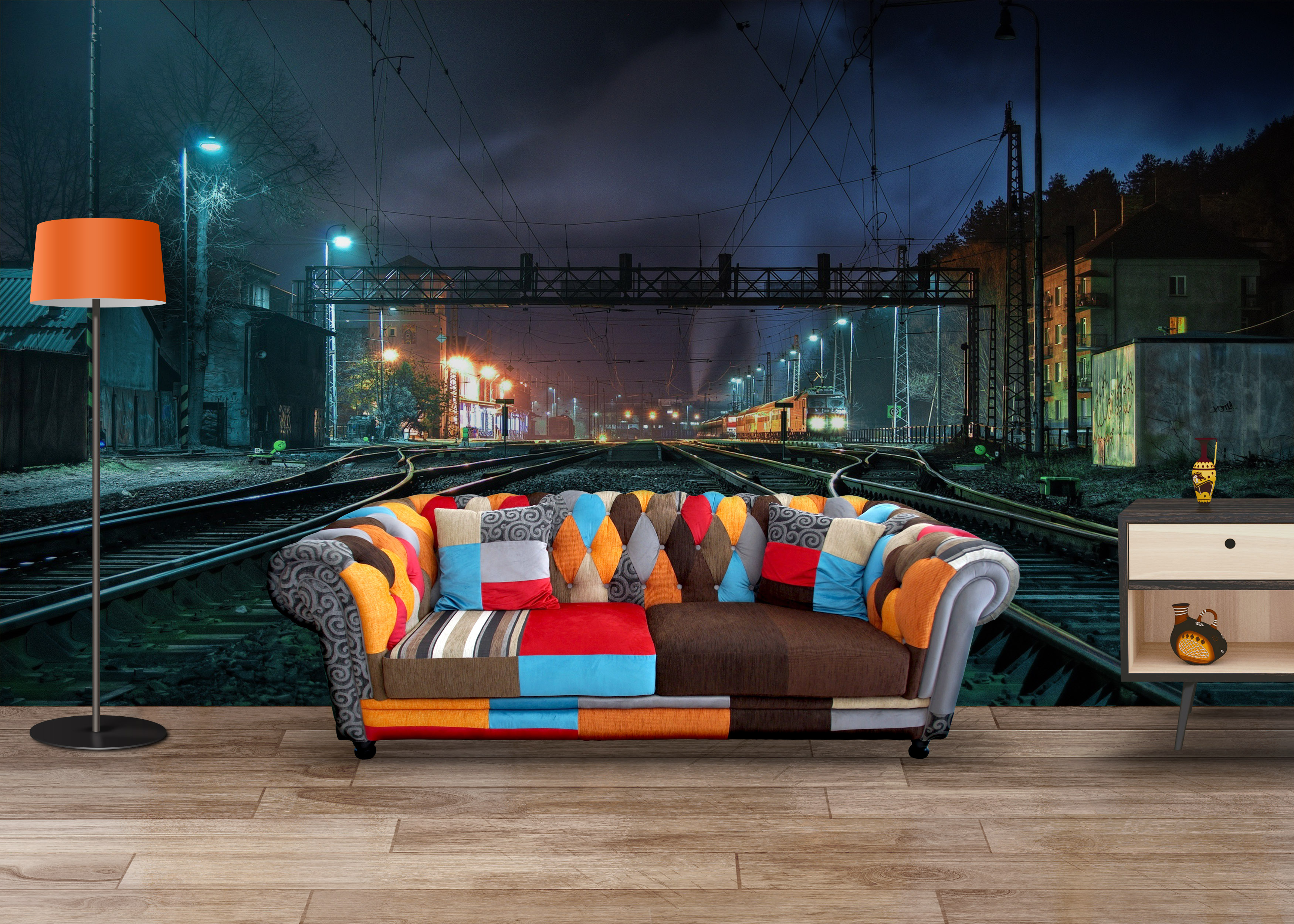 Fototapet Train Station - Tapet Living pe un Perete