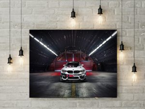 Tablou canvas White BMW